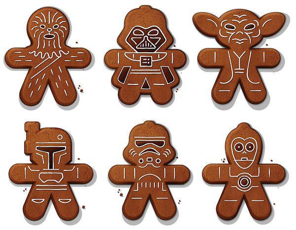SET OF 6 Star Wars Gingerbread Sugar Cookie Cutters Fett Vader Yoda C-3PO New