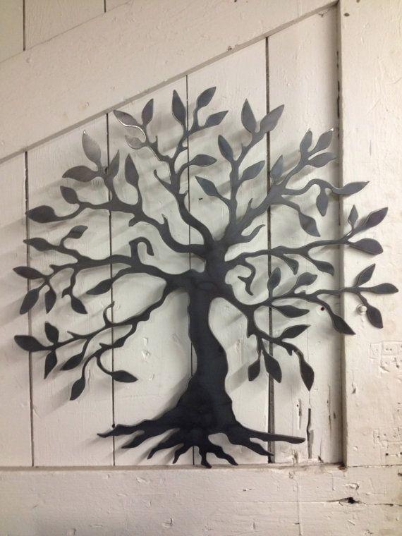 Arte de pared de árbol de la vida por BuckandFawnMetal en Etsy
