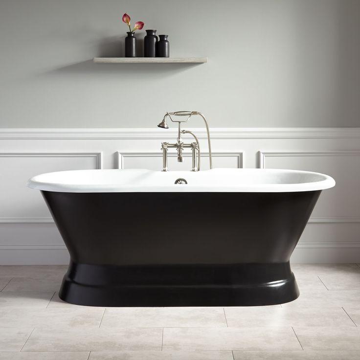 master tub henley cast iron doubleended pedestal tub black