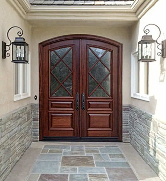 Beautiful french style double front doors for homes for French door styles exterior