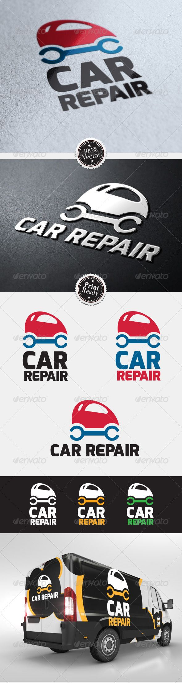 Car Repair Service logo #GraphicRiver Logo designed for car repair, car repair shops, dealerships and car service. 100% vector, two versions, unlimited color change. Font used: Exo .fontsquirrel /fonts/exo SET INCLUDES: - Two versions of the logo - 3 source files: .psd, .ai, .eps - 1 .pdf file - 1 high quality .jpg file All source files are ready to open with the Adobe Photoshop CS and Adobe Illustrator CS version or higher. Created: 6July13 GraphicsFilesIncluded: PhotoshopPSD #JPGImage…