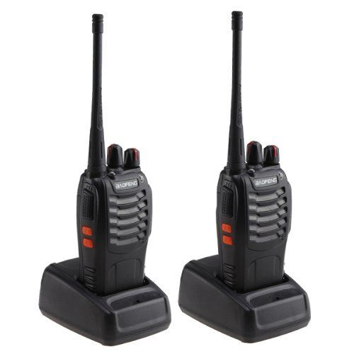 AGPtek® 2 Pack Rechargeable Walkie Talkie 3W 16CH FRS/GMRS Two-Way Radio (Pair) W/built-in 1500MAh Li-ion battery- Support 8 hours by AGPtek. $47.99. This BF-888S Walkie Talkie is a great long range Walkie Talkie   (handheld transceiver) for you! It can bring huge convenience   for you to communicate with each other in a long range about   6km.         General Product Information:    Frequency Range : UHF 400-470MHz     Channel Capacity:  16     Channel Spacing:  25KHz     ...