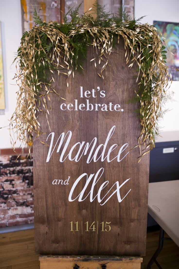Industrial Art Gallery Wedding Sign | Zachary Hartzell Photography on @overwhelmbride