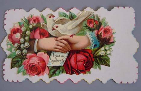 Victorian calling card