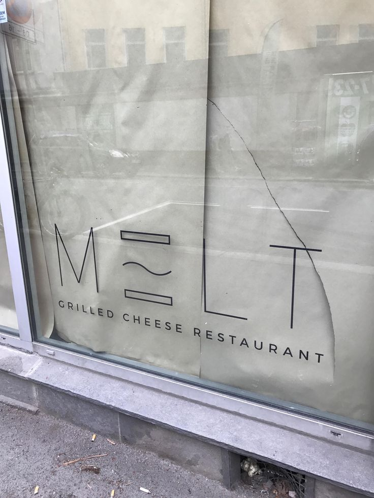 It's not a grilled cheese but the grilled cheese restaurant opening in my neighborhood is called melt. It annoys me a bit too much #grilledcheese #food #yum #foodporn #cheese #sandwich #recipe #lunch #foodie