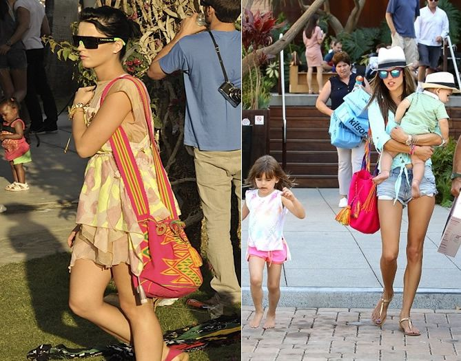 Katy Perry rocking some colors with a Wayu Bag in Coachella