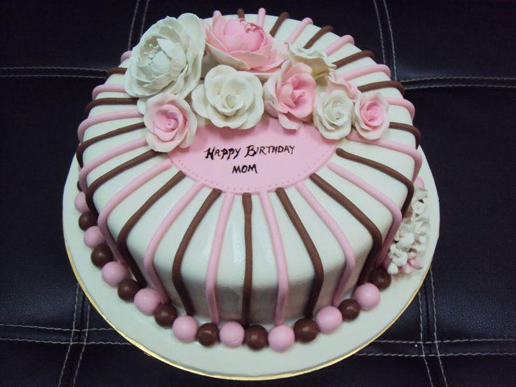 100 best Mums 50th images on Pinterest Fondant birthday cakes