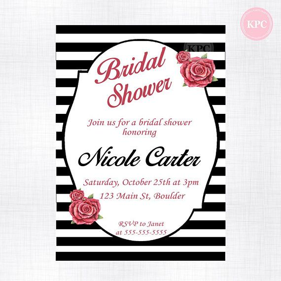 Check out this item in my Etsy shop https://www.etsy.com/listing/576060505/black-and-red-bridal-shower-invitation