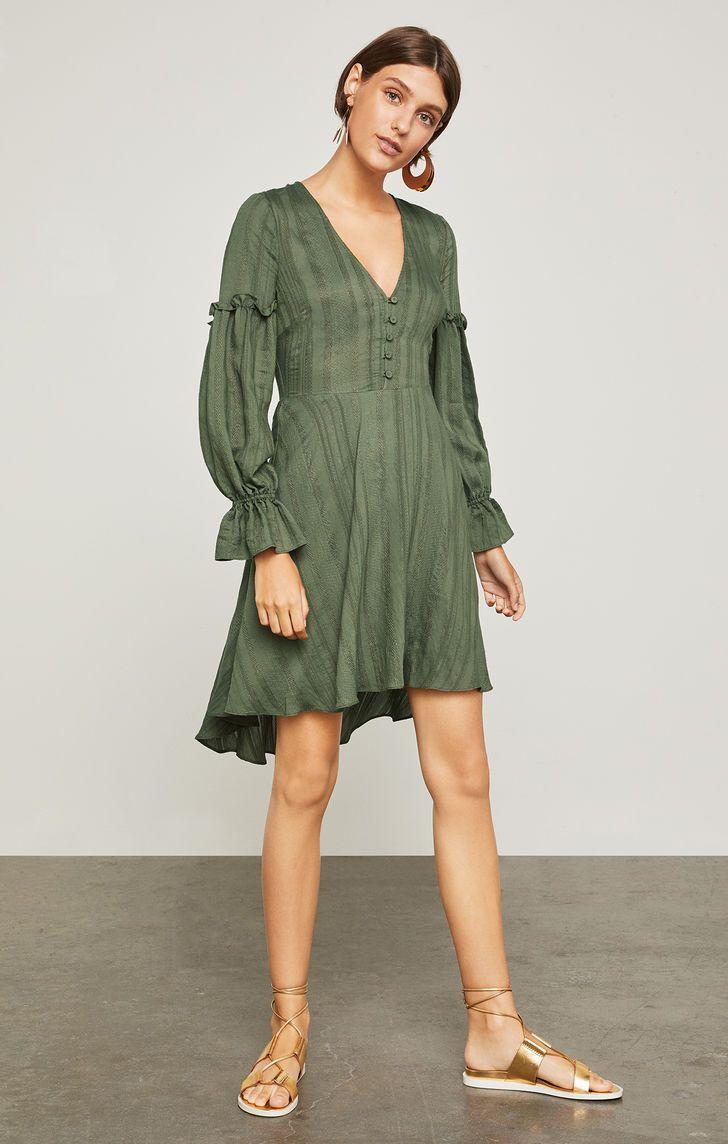 f0fe7f4a32df5 High-Low Jacquard Dress | MY BCBG WARDROBE in 2019 | Jacquard dress ...