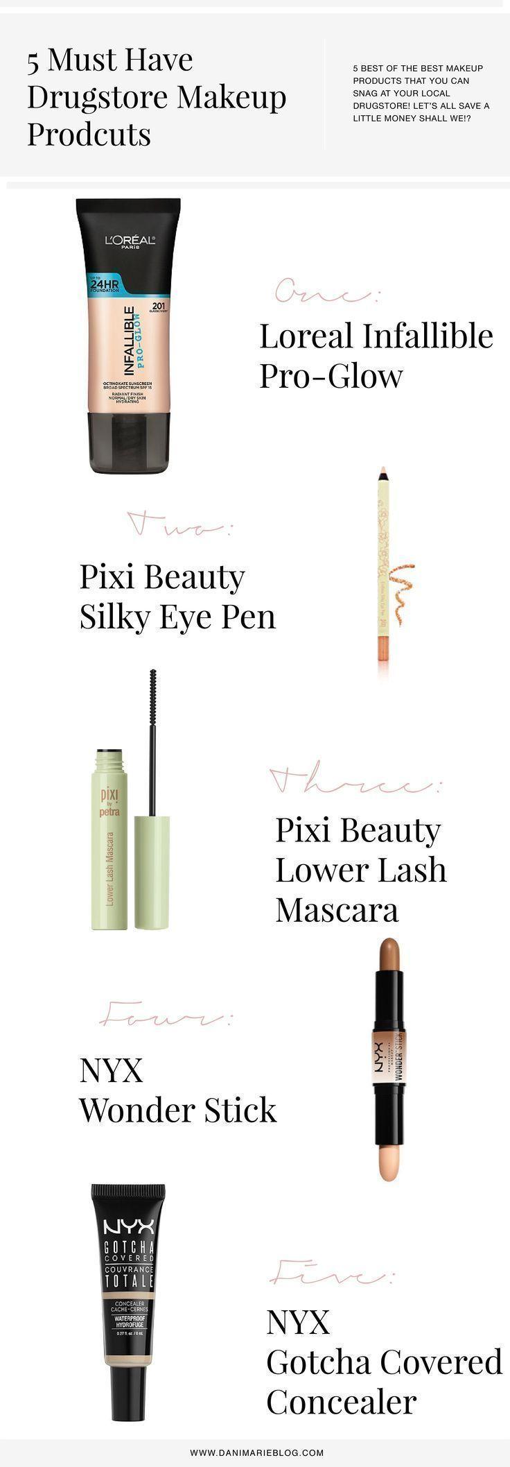 5 Must Have Drugstore Makeup Products #FaceMoisturizerForDrySkin #GlowingSkinRou… – #drugs…