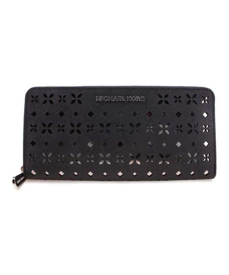 Take a look at this Black & Nickel Jet Set Continental Wallet today!