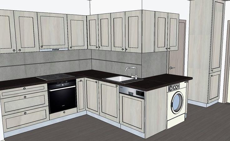 kuchyň Reagan var2 folie Jilm + beton