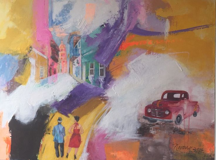Soñando 1 Acrilico sobre lienzo Carmen Alicia Navarro