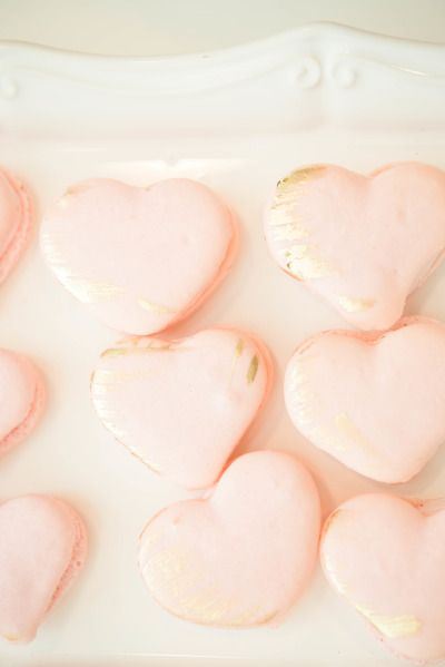 Heart shaped macaroons: http://www.stylemepretty.com/living/2014/11/05/learning-the-art-of-calligraphy-with-laura-hooper/ | Photography: Injoy Imagery - http://www.injoyimagery.com/
