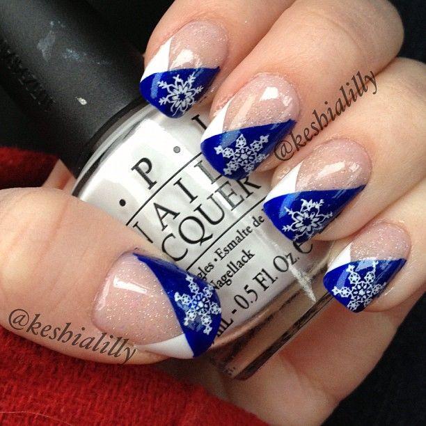 snowflake #nail #nails #nailart