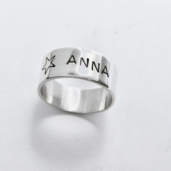 Zilveren ringen - Zilveren ring met naam of tekst. - Een uniek product van Atelier925-goudsmid op DaWanda