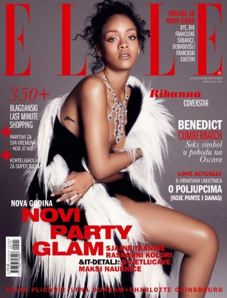 Rihanna - Elle Magazine Cover [Croatia] (January 2015)