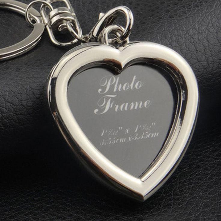 AOJUN 2017 Creative Insert Photo Keychain Keys holder Photo Frame lover Key Ring 6 Styles Metal Key chain Couples jewelry YSK09