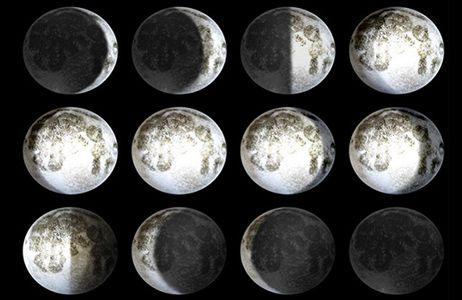 Healing Moon, φωτιστικό τοίχου LED
