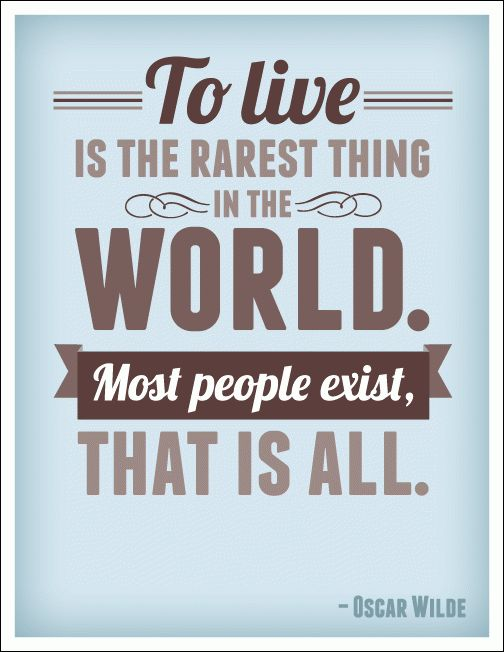 Oscar Wilde Quote by Trina D. Lambert, via Behance