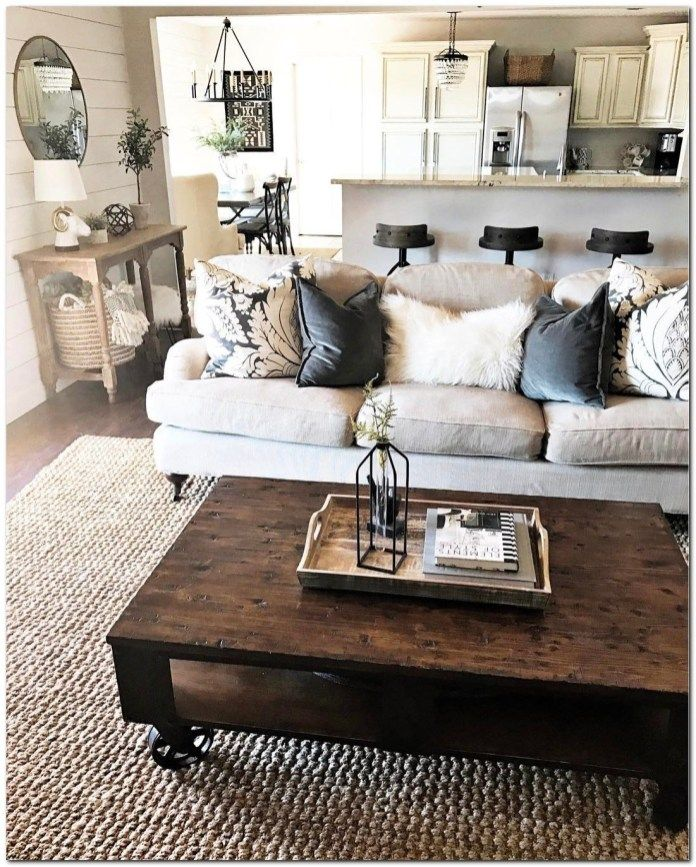 How To Decorating Small Apartment Ideas On Budget Farmhouse Living Room Furniture Living Room Decor Rustic Modern Furniture Living Room