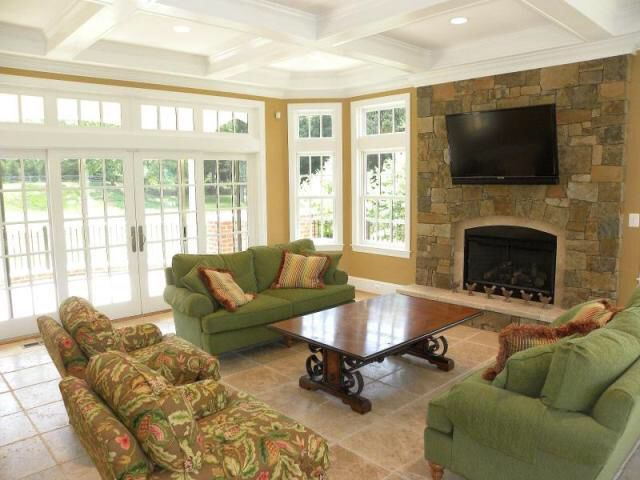 11 best ideas about sunroom with fireplace on pinterest for Family room addition pictures