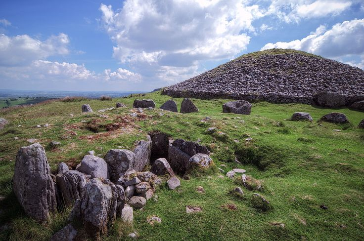 The megalithic burial cairns at Loughcrew, County Meath, Ireland. Just a stones throw from Loughcrew House self-catering holiday house