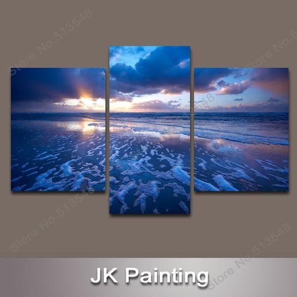 Arte Moderna, Seascape Pittura Decorativa A Parete Art Decor Di Tela Di Foto Il Soggiorno La Pittura Digitale Parete All'ingrosso Da
