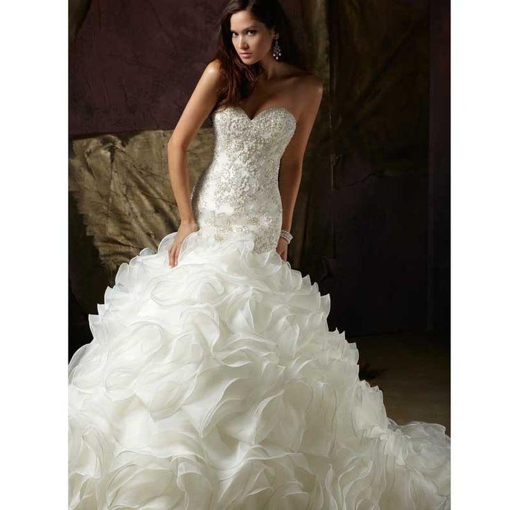 >> Click to Buy << Luxury Mermaid Wedding Dresses Long Ruffles 2017 With Appliques Crystals Vestidos De Noivas Wedding Gowns Bride Bridal Dress #Affiliate