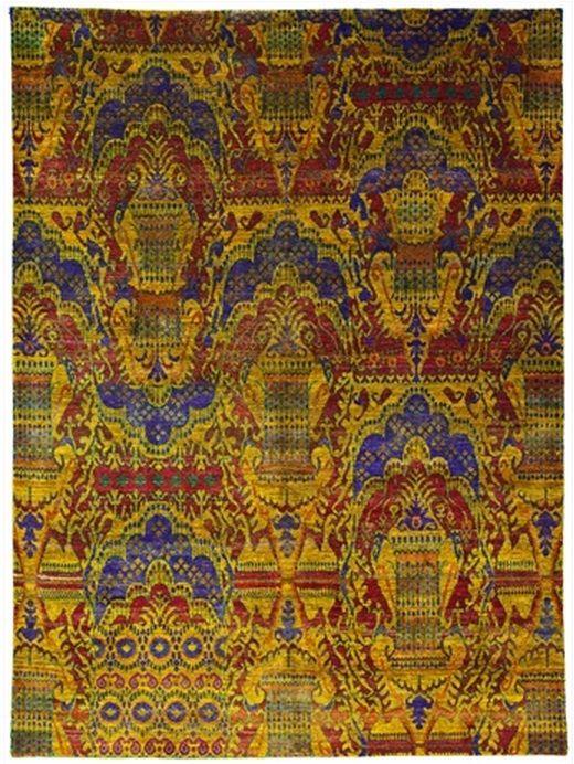 "Size: 9' 01"" x 12' 03"" Construction: Hand Knotted. Material: Silk. Colors: Multi Colors. Collection: MG. Origin: India. Description: Contemporary Sari Silk."