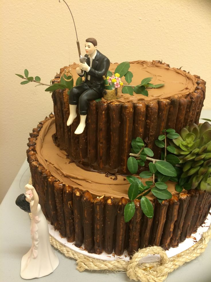 """Fishing"" groom's cake"