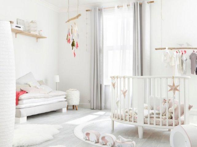 10 meilleures id es propos de chambre d 39 enfants blanche sur pinterest chambre b b chambre for Chambre bebe fille blanche