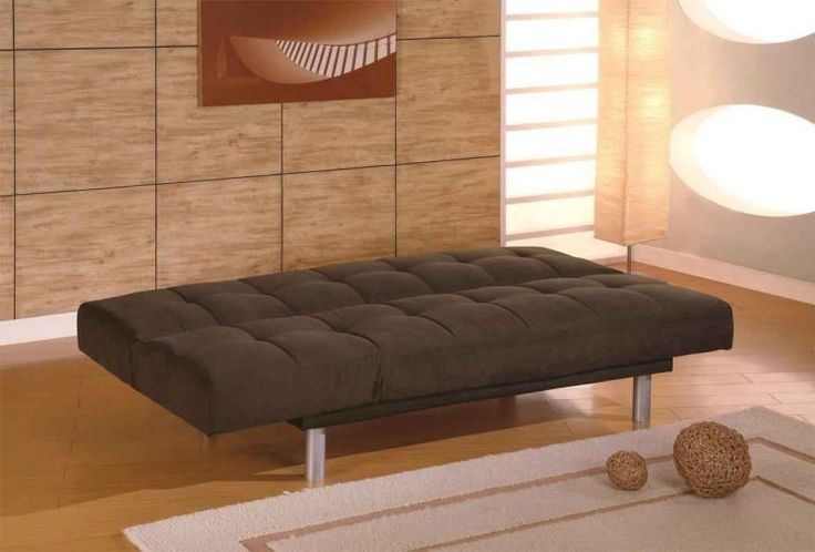modern futon mattress IKEA brown color
