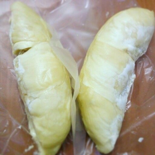 a piece of durian. Are you want to try it?