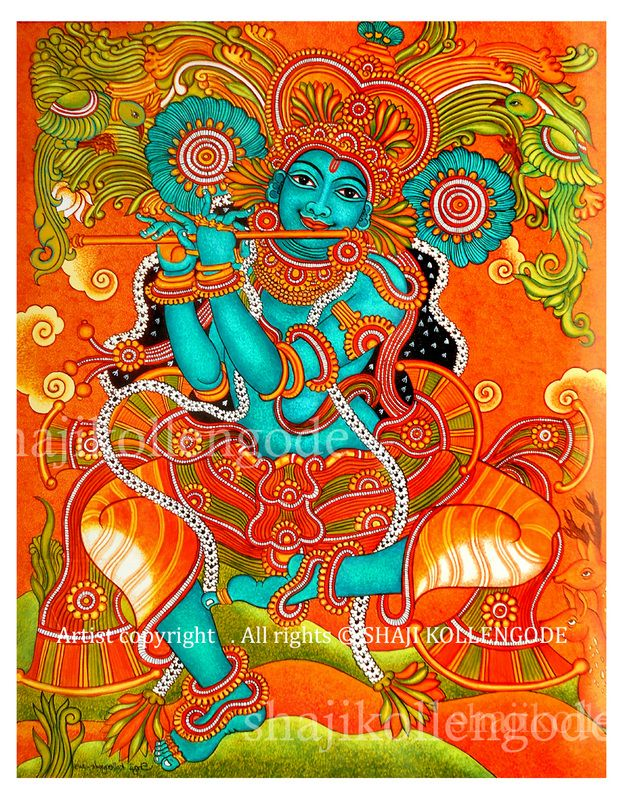 17 best images about kerala mural paintings on pinterest for Asha mural painting guruvayur