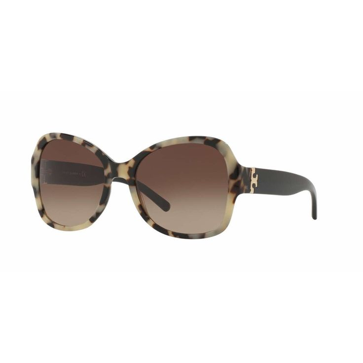 Tory Burch Women TY7077 156713 Havana Rectangle Sunglasses