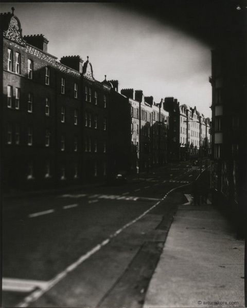 Werburgh Street, Dublin  Sinar F2 Schneider-Kreuznach Symmar-S 150mm 5.6 Ilford/Harman Direct Positive Paper FB 4x5 ISO 4  Photographer: Artur Sikora