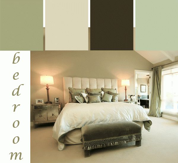 Green Bedroom Color Schemes a tranquil green bedroom color scheme. #bedroom #paint #colors