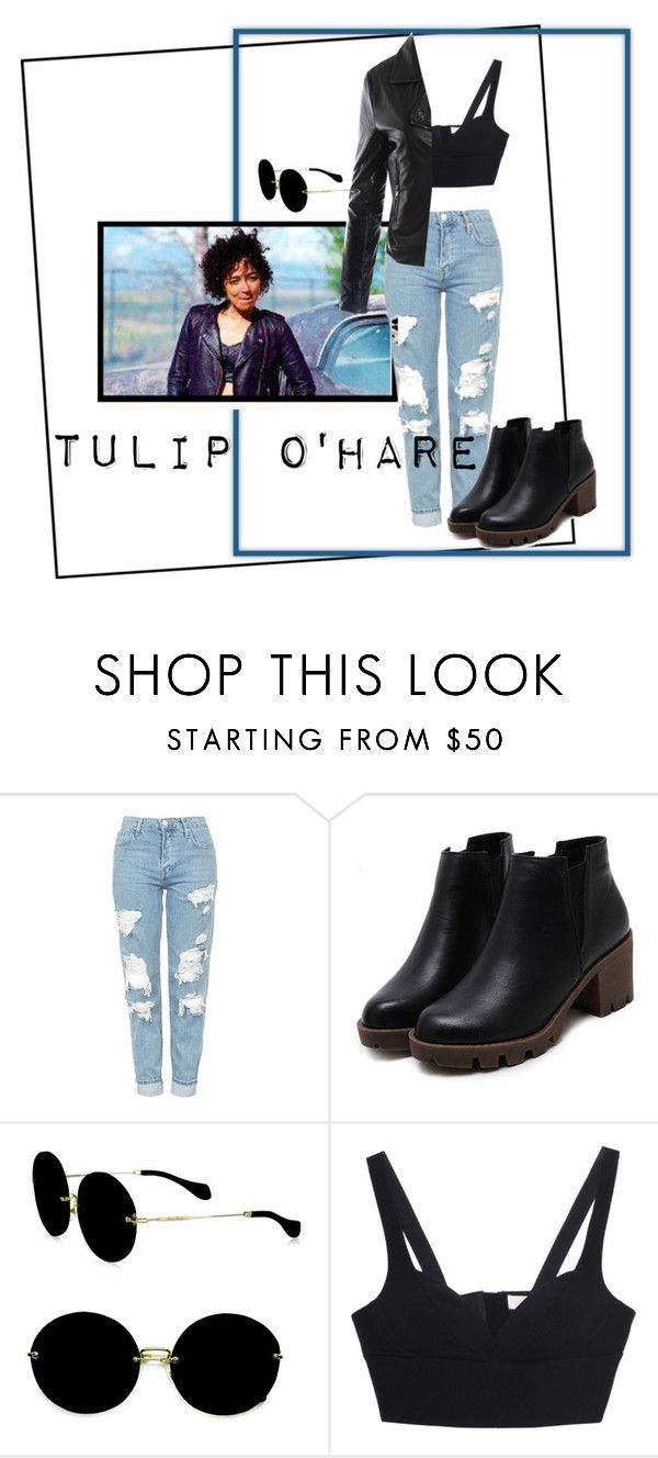 """""""Tulip O'Hare"""" by chelocean93 ❤ liked on Polyvore featuring Topshop, Miu Miu, MICHAEL Michael Kors and Sans Souci"""
