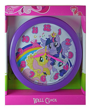 Another great find on #zulily! My Little Pony Wall Clock by My Little Pony #zulilyfinds
