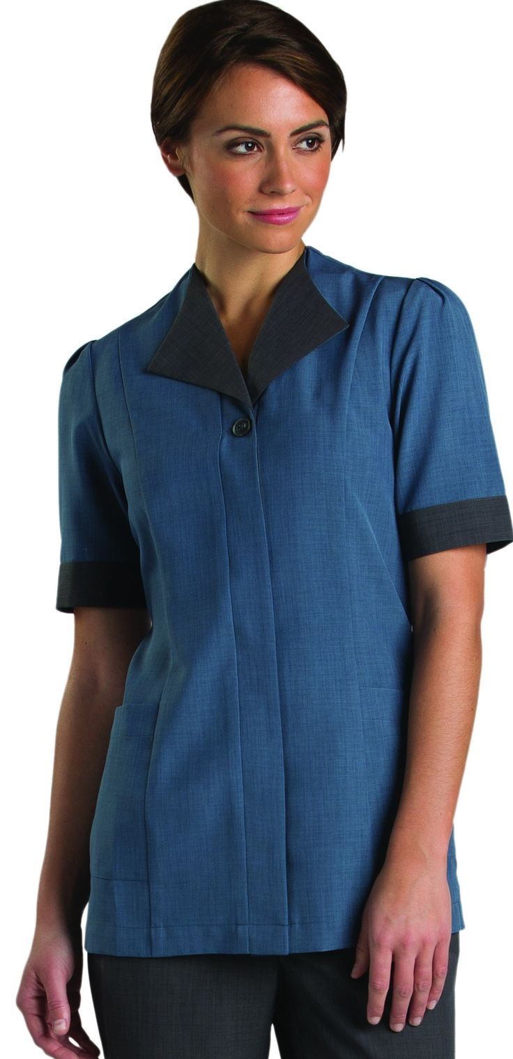 This stylish updated ladies housekeeping tunic is a for Spa uniform colors