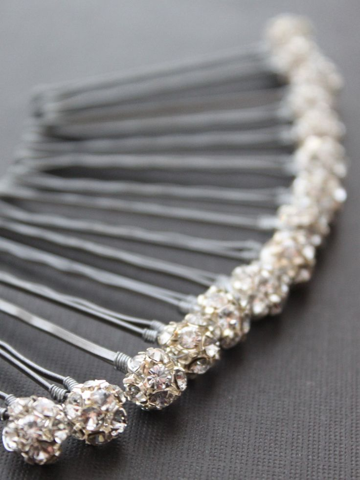 Crystal Hair Pins from Etsy
