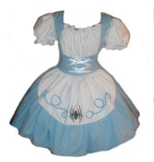 Little Miss Muffet Halloween Costume Womens Little Miss Muffet dress blue white Large L. $169.95, via Etsy.