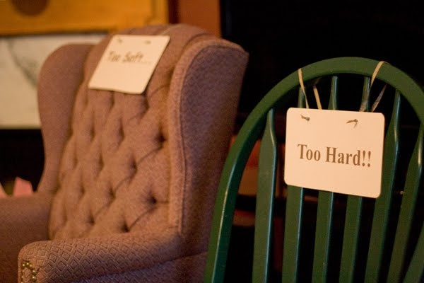 Chairs at a fairytale baby shower