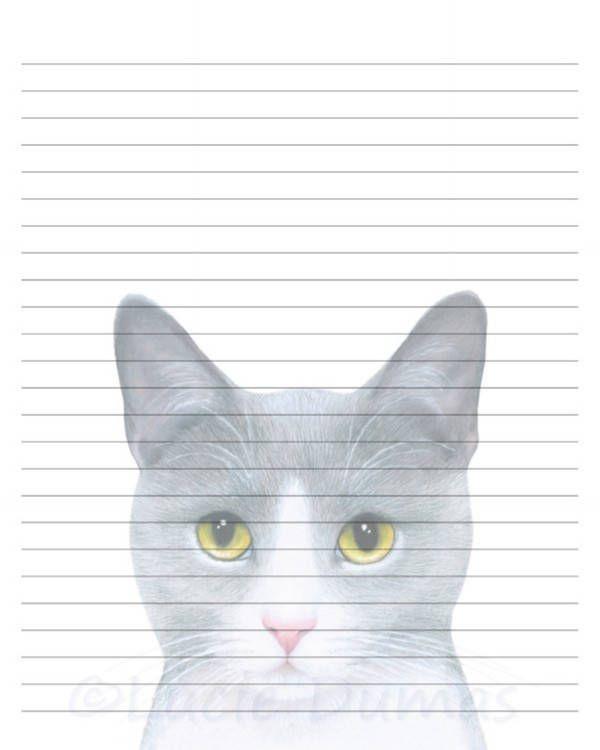 Cat writing paper