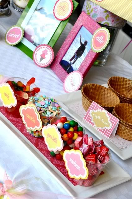 I'd probably do this for one of my own parties. Everyone loves a little candy. Party snack tray