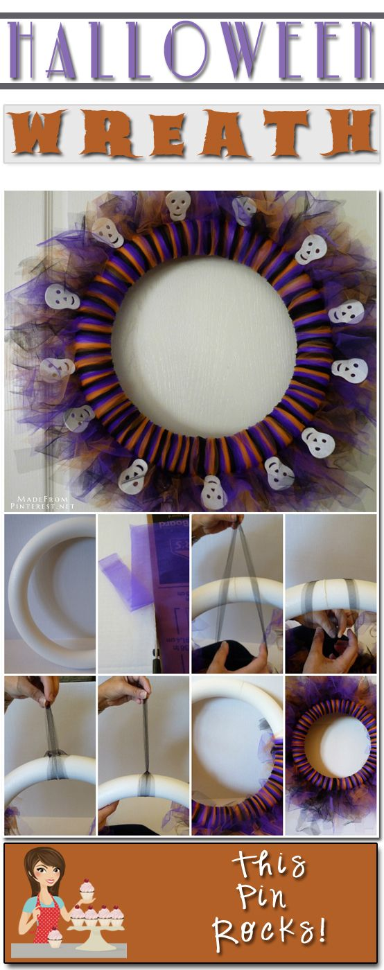 Halloween Tulle Wreath | Made From Pinterest