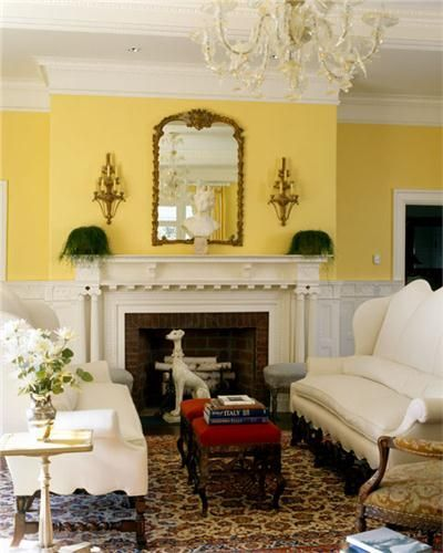 Traditional English Country Sitting Room: 378 Best Images About Yellow Interiors On Pinterest