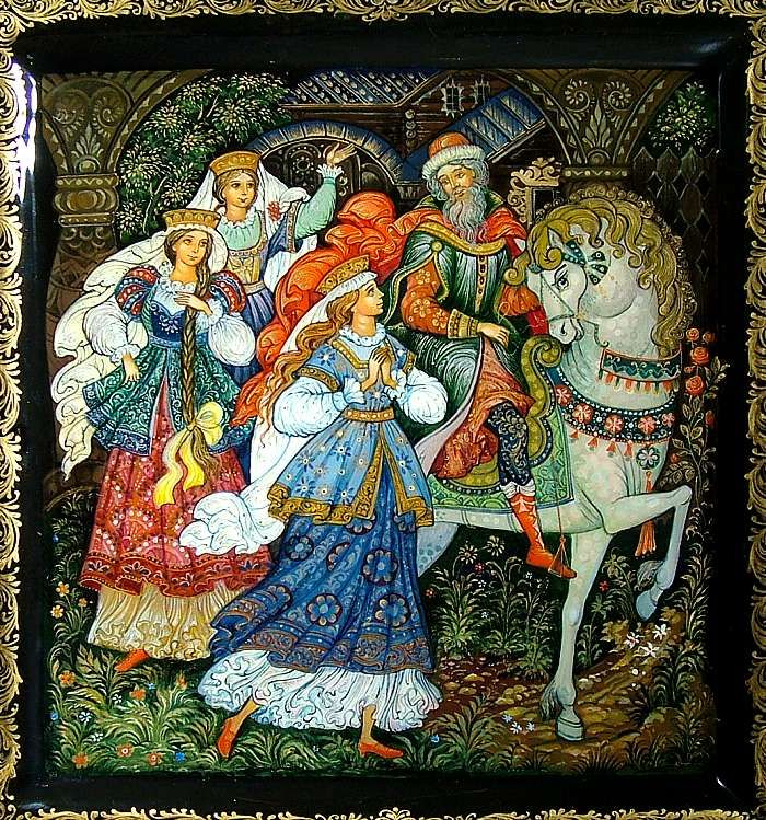 """""""Favorite Fairy Tales"""", Palekh Lacquered box"""