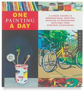 One Painting A Day is an inspiring, six-week course that explores the timeless traditions of observational painting through daily experience and routine.  This motivational guide is broken up into three parts to focus on the three major traditions of observational painting — still life, landscape, and portraiture. Each of the exercises launches a small, immediate, and responsive painting based on a theme drawn from your daily experience.